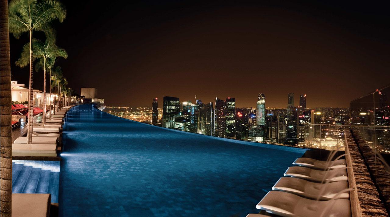 marina bay sands singapore pool