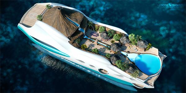 Tropical Island Paradise Yacht 3