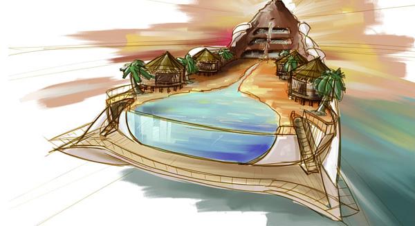 Tropical Island Paradise Yacht 6