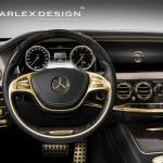 Luxus nebo nevkus? Zlatý interiér Mercedes Benz S63 AMG