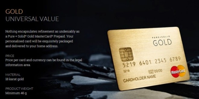 Pure+Solid MasterCard Gold