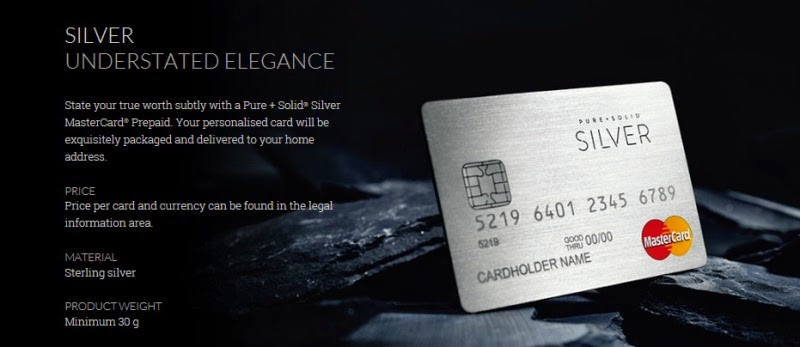 Pure+Solid MasterCard Silver
