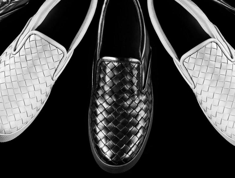 Luxusni tesiky - Bottega_veneta_Intrecciato_Nappa_Slip-On_Sneaker