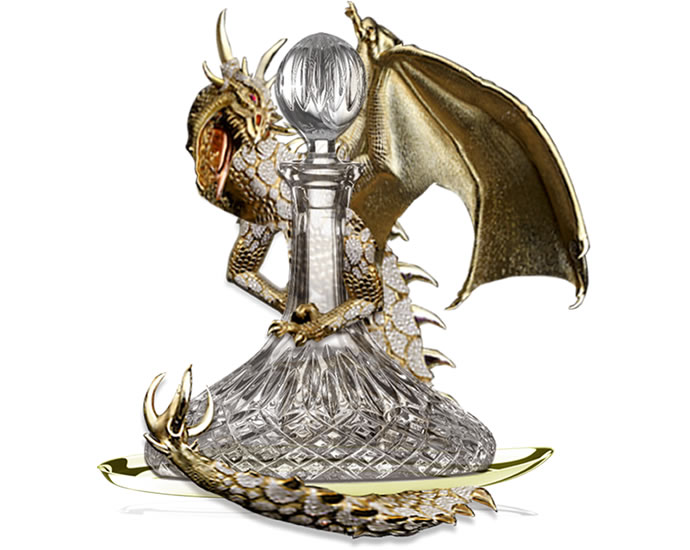 Anita Mai Tan Dragon Decanter