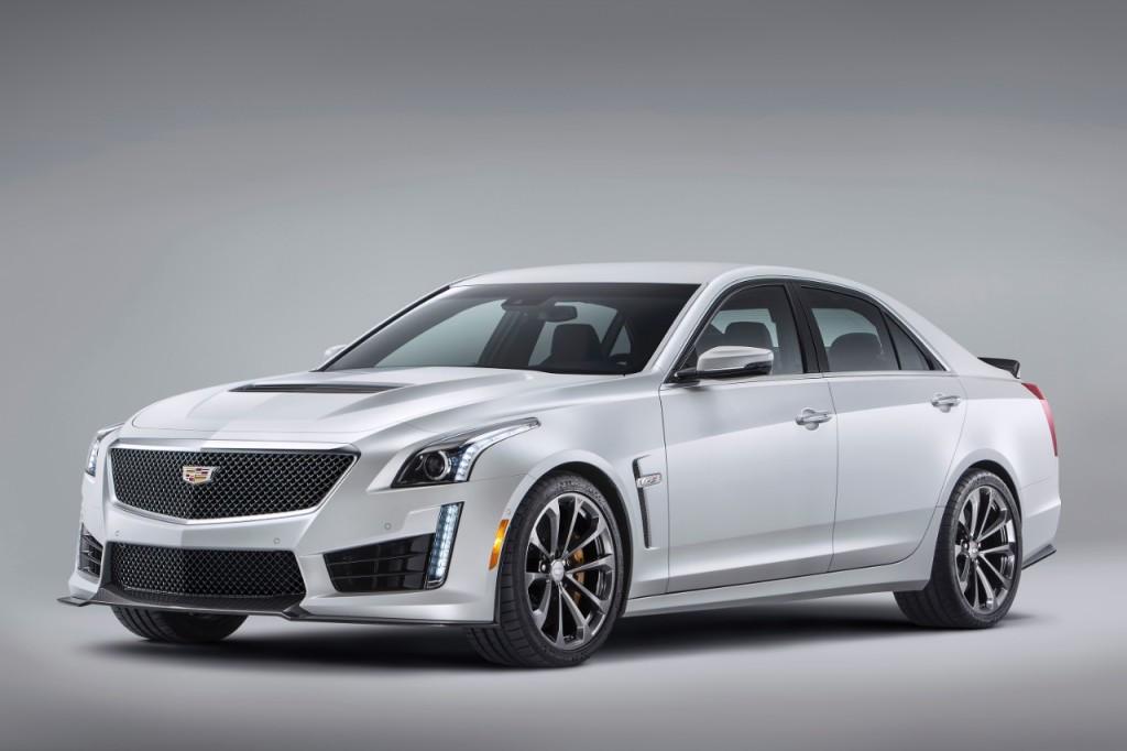 Cadillac CTS-V 2016 white