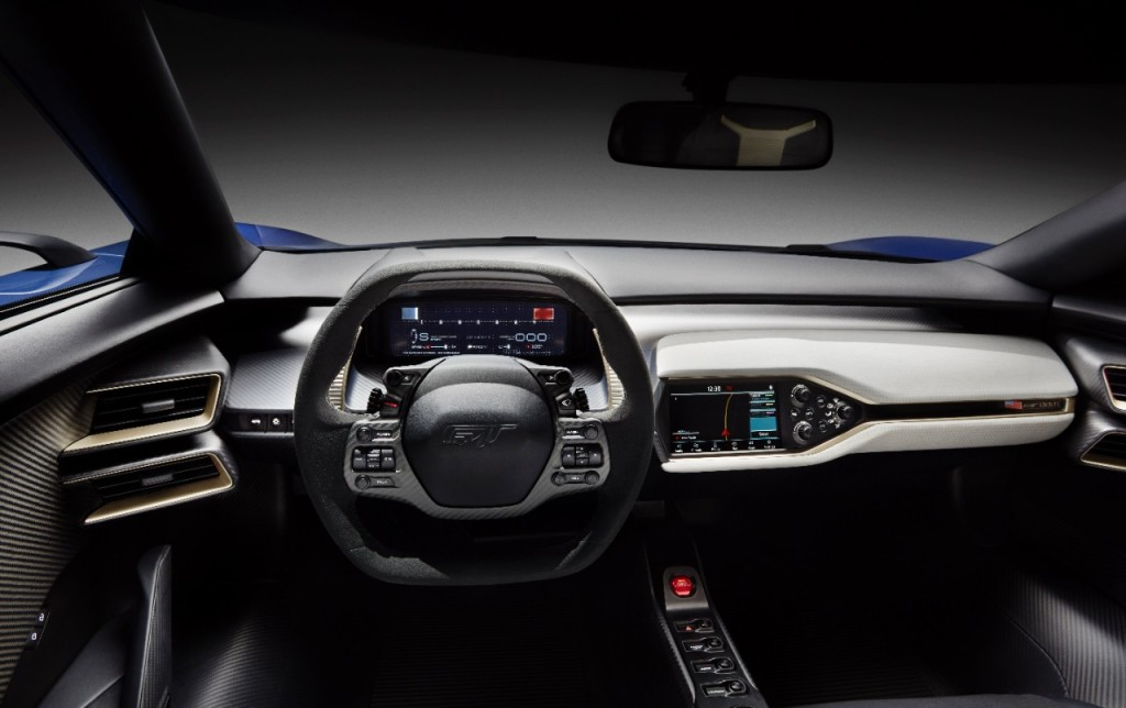 Ford GT 2016 interior cockpit
