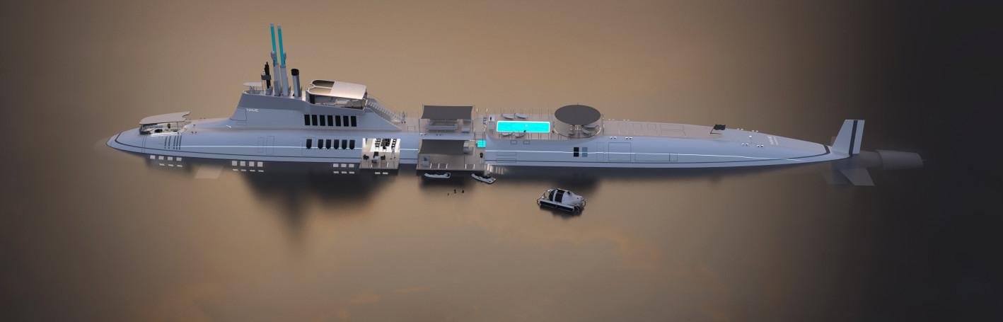luxus ponorka Migaloo