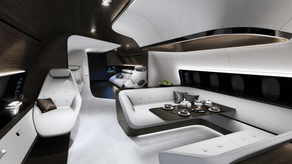 Luxusní soukromé letadlo Mercedes-Benz Lufthansa