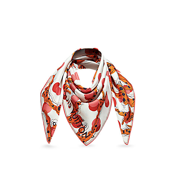 satek louis vuitton ramage dots scarves shawls