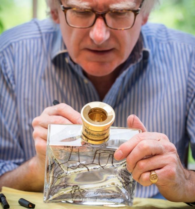 Luxusní alkohol Johnnie Walker