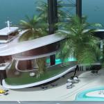 Luxusní plovoucí ostrov Kokomo Floating Island