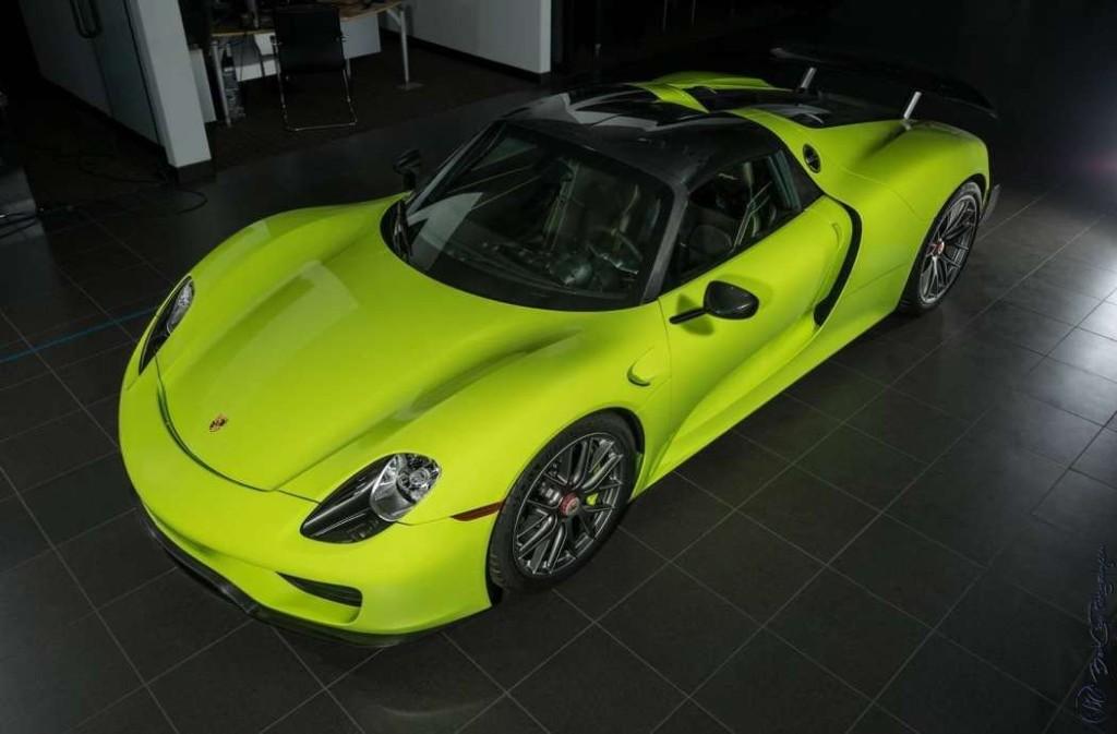 Porsche 918 Spyder Acid Green limitovaná edice