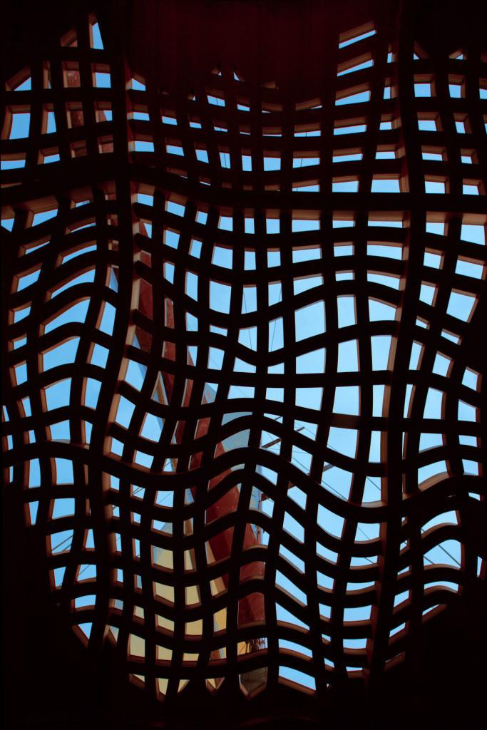 Foggy Frank Gehry latticework