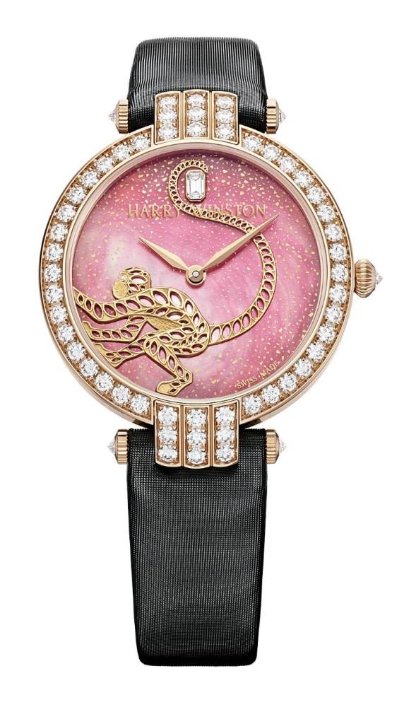 Luxusní dámské hodinky Harry Winston Premier Monkey Automatic