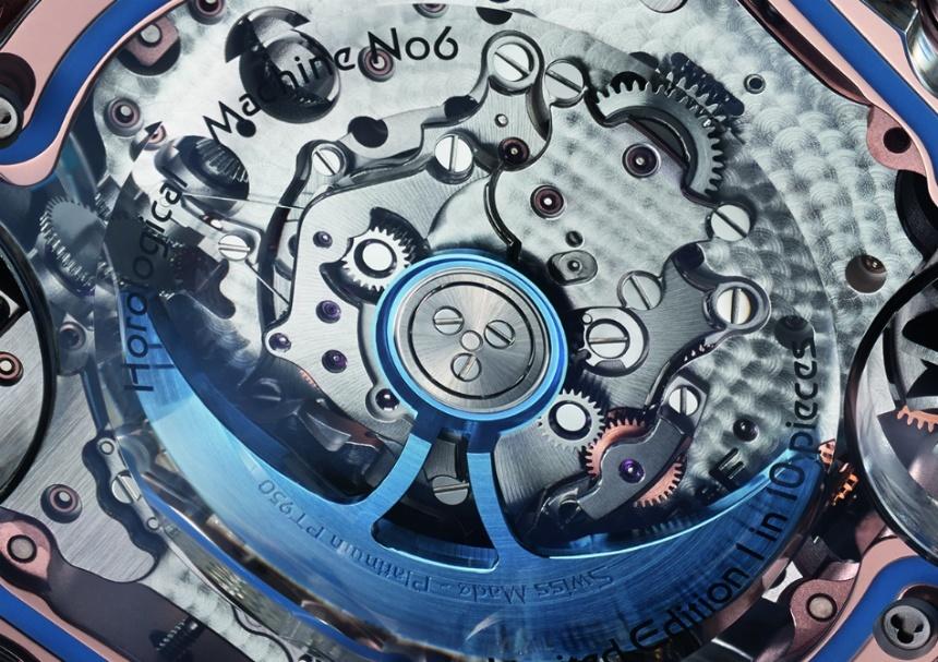 Strojek luxusních hodinek MB&F Horological Machine No. 6 SV