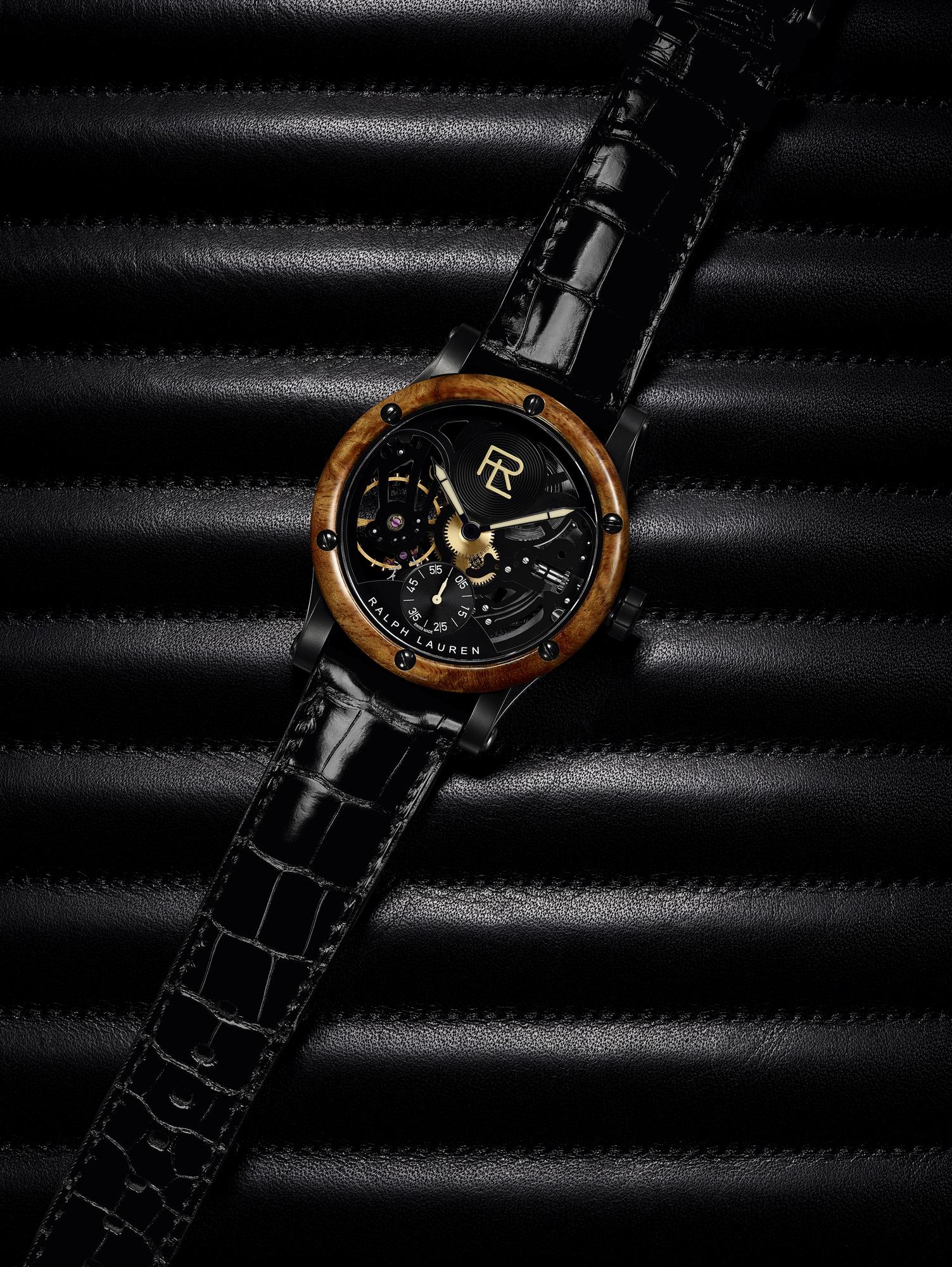 Luxusní hodinky Ralph Lauren Automotive Skeleton