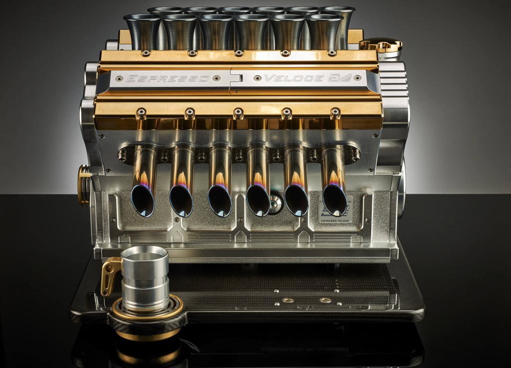 Luxusní kávovar Espresso Veloce Aurum 18ct