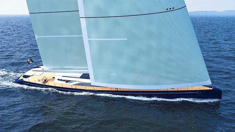 Luxusní plachetnice - Ferrari Franchi Blue Sapphire