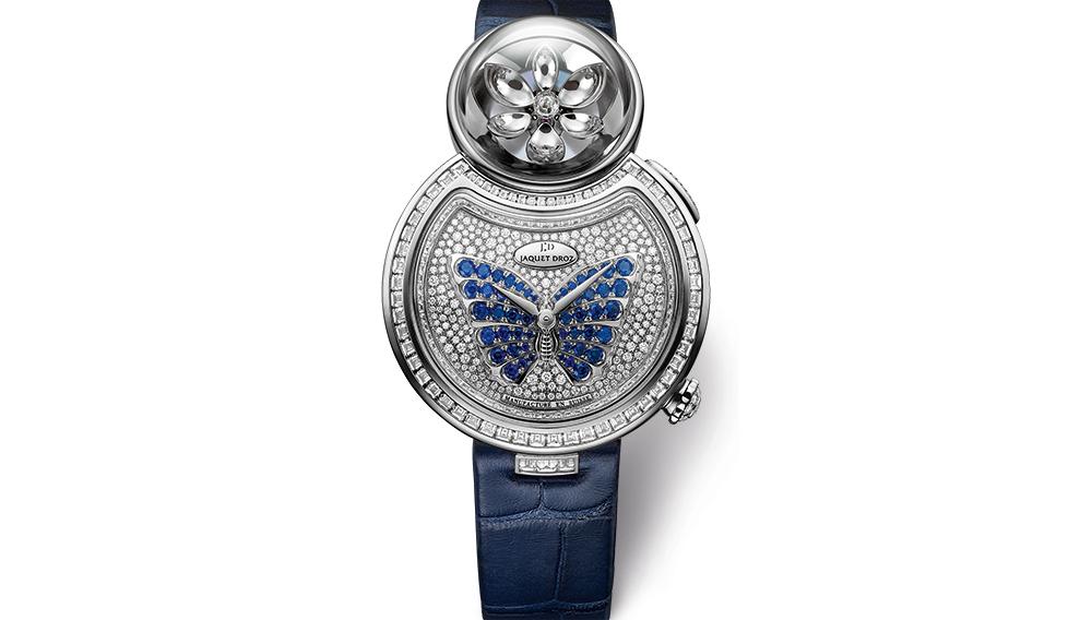 Luxusní dámské hodinky z bílého zlata - Jaquet Droz Lady 8 Flower