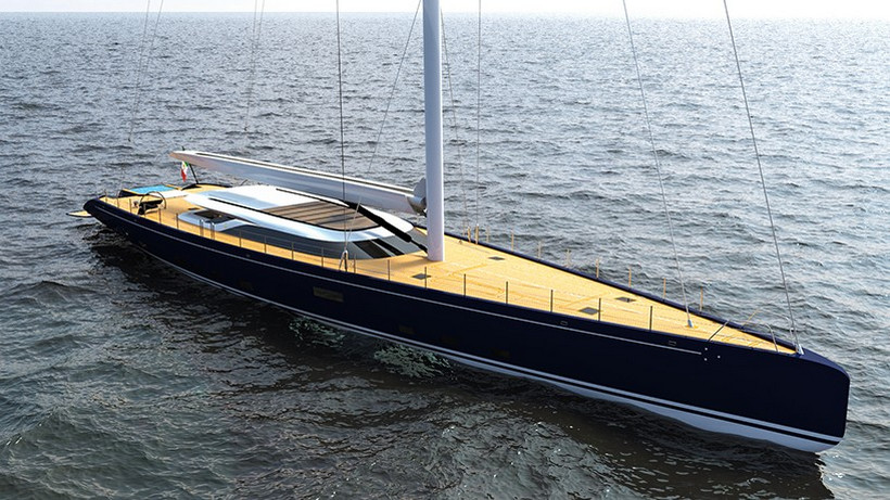 Luxusní jachta ferrari franchi blue sapphire