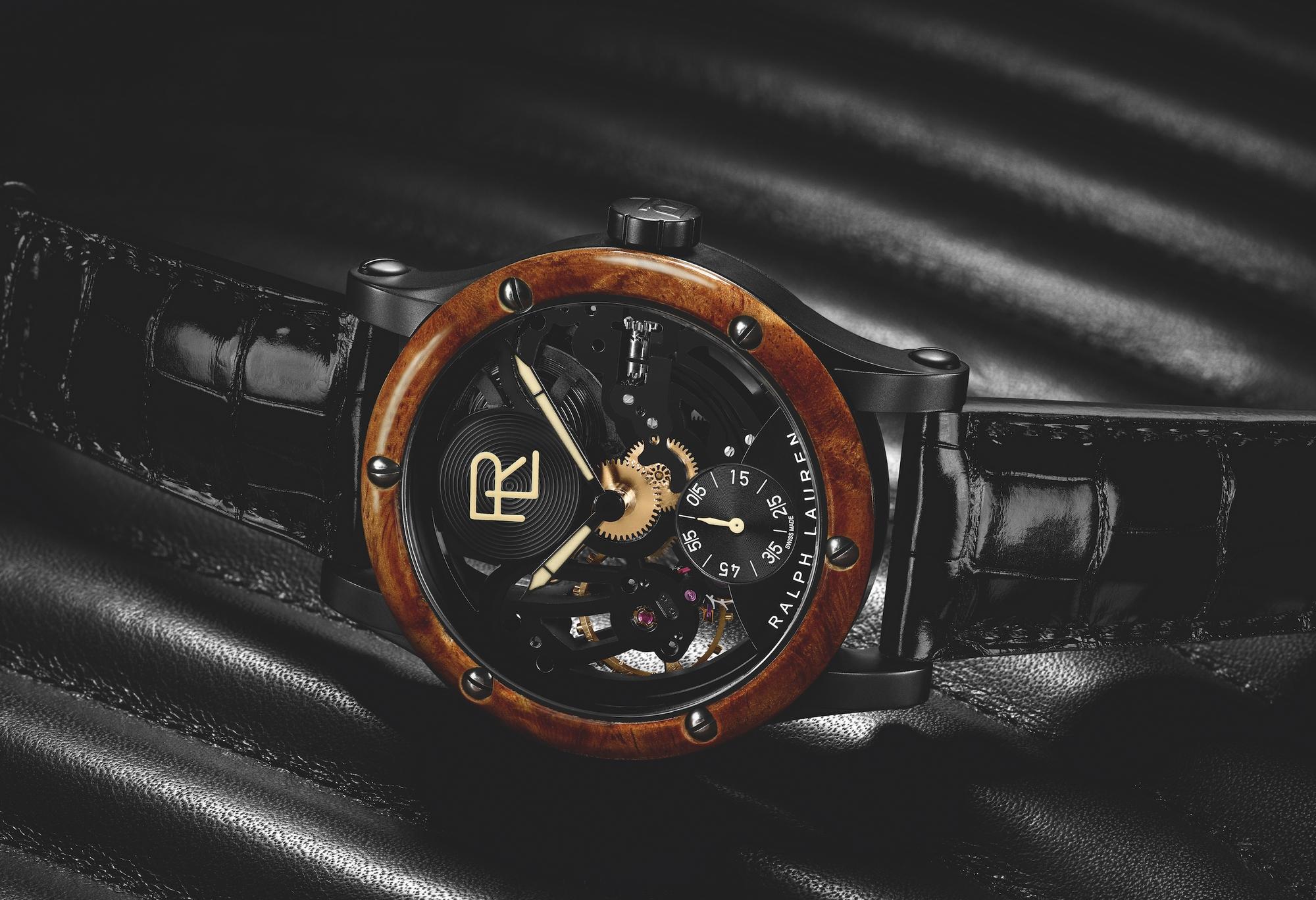 Ralph Lauren Automotive Skeleton luxusní hodinky
