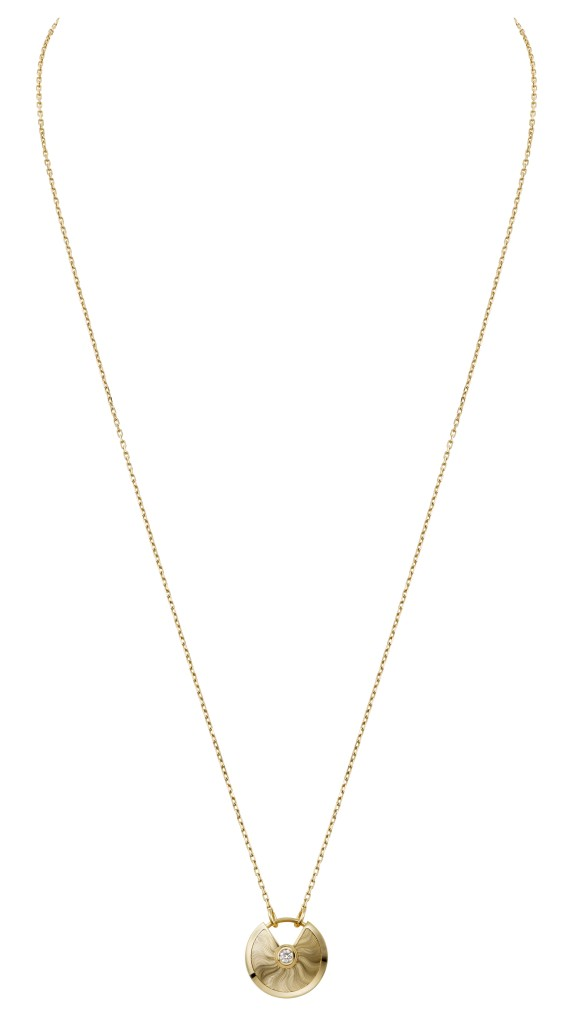 Amulette de Cartier necklace, Small Model, Yellow gold, diamond, chain in yellow gold