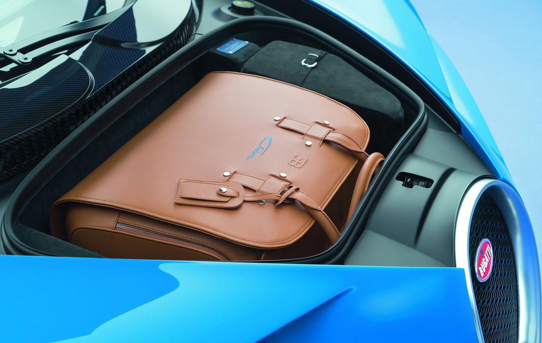 Bugatti Chiron zavazadlový prostor
