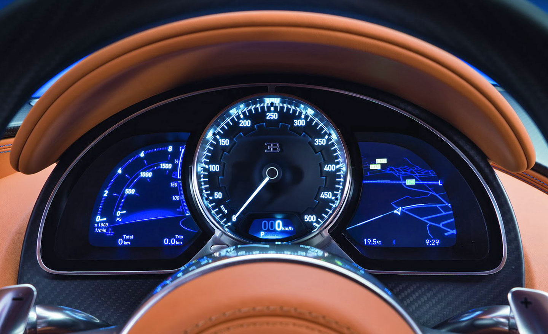 Bugatti Chrion interior