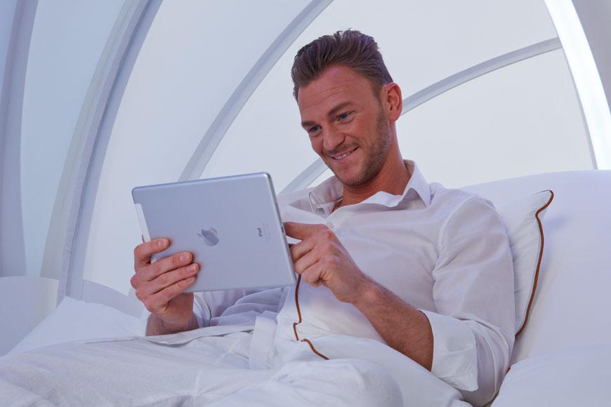 CocoOne - odpocinkova mistnost ovlada iPadem