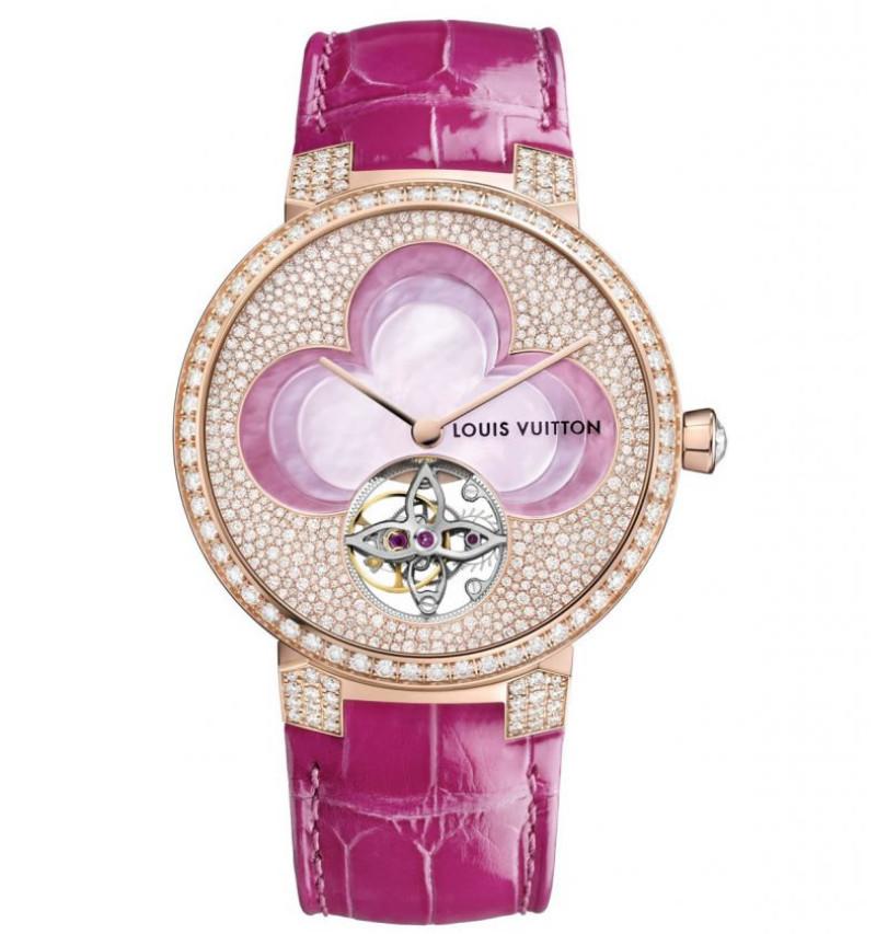 Dámské hodinky Louis Vuitton - Tambour Monogram Tourbillon