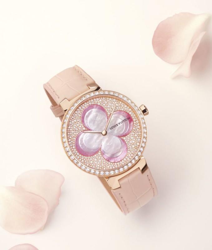 Louis Vuitton Blossom Monogram Flower dámské hodinky Louis Vuitton luxusní  ... f9fba6e8001
