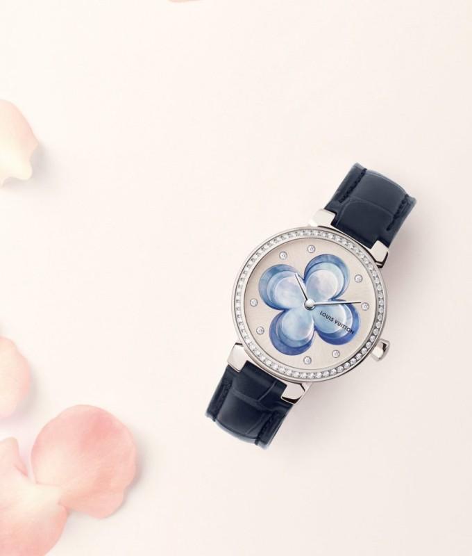 Louis Vuitton Blossom Monogram Flower luxusní dámské hodinky
