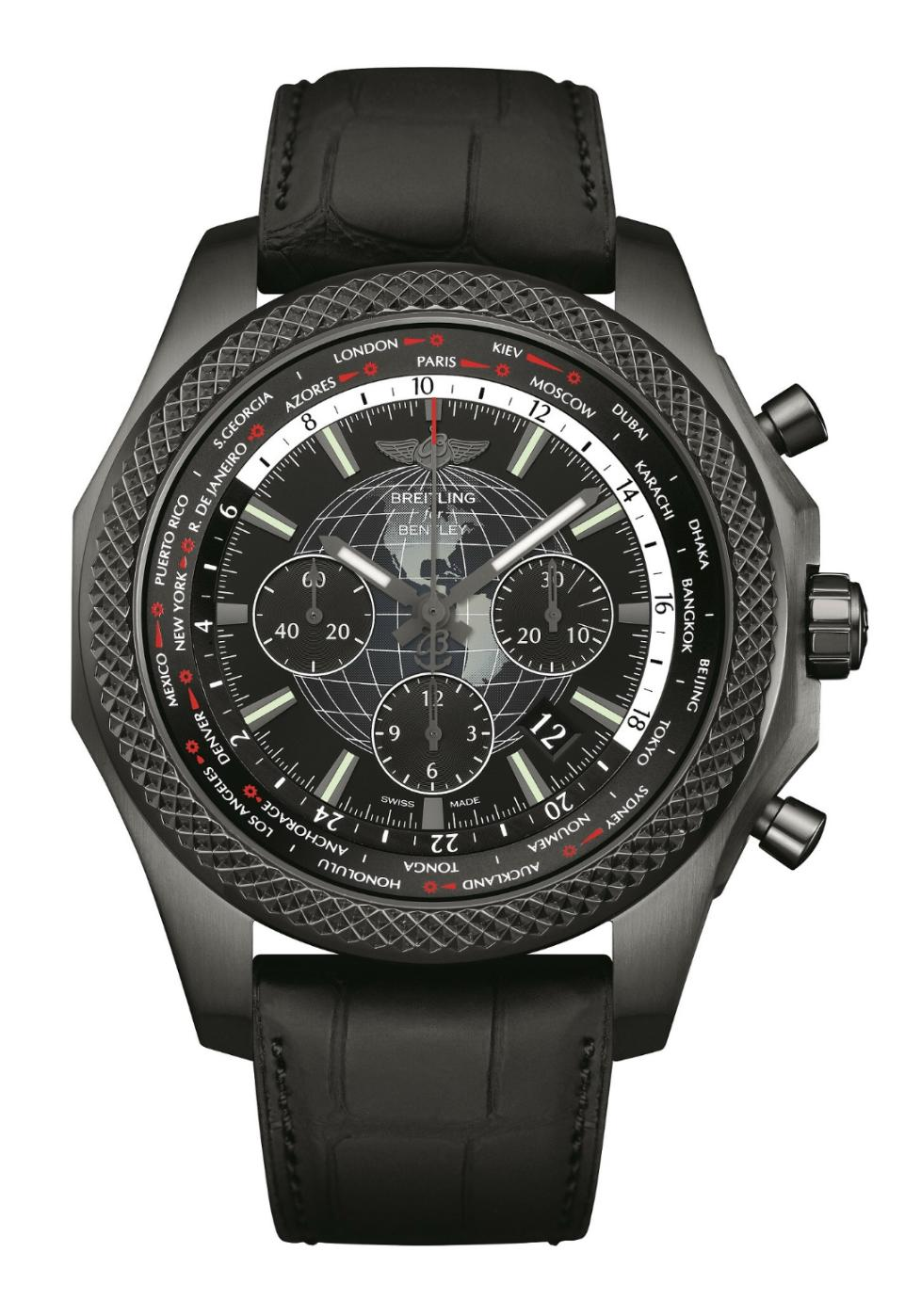 Luxusní hodinky Breitling for Bentley B05 Unitime - Midnight Carbon