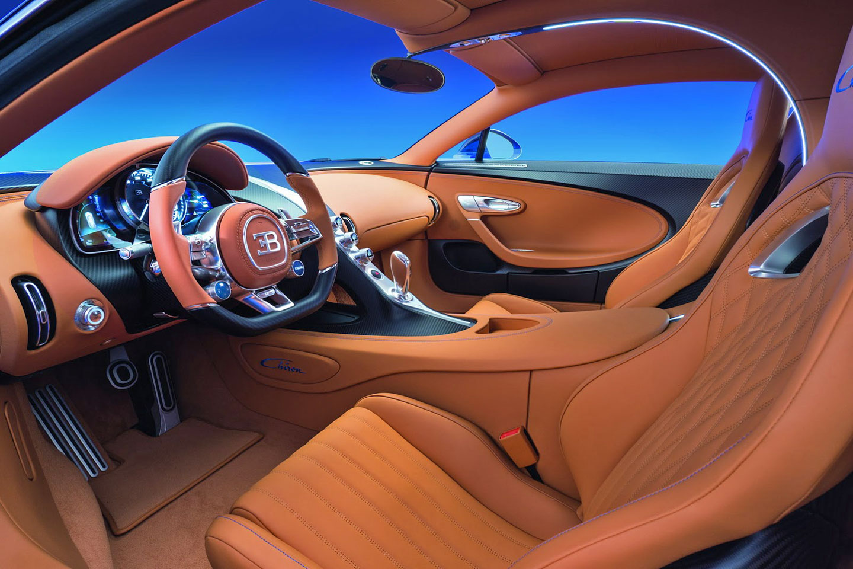 Luxusní Bugatti Chiron interiér