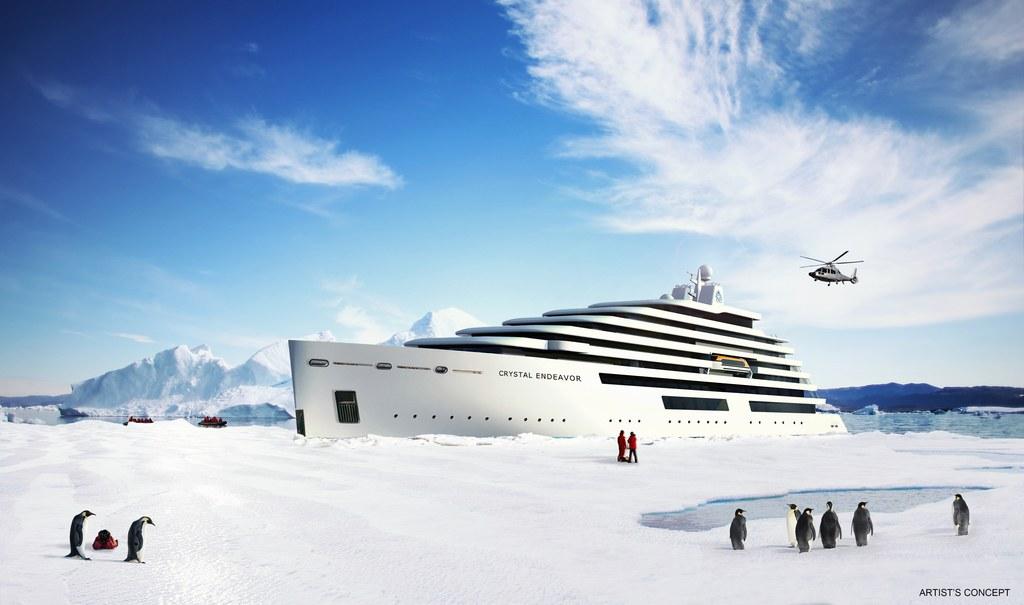 Luxusní jachta Crystal Endeavor