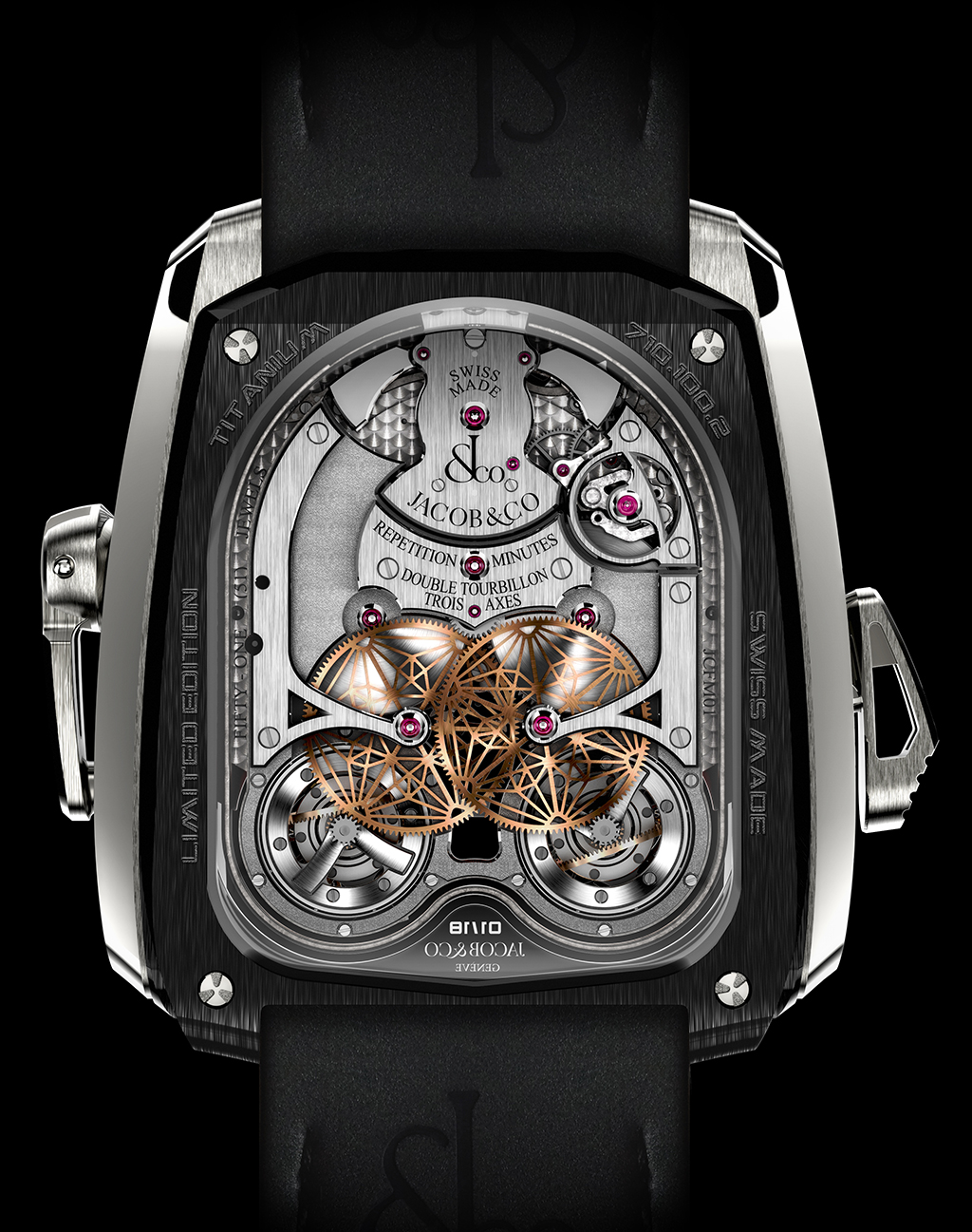 Luxusní hodinky Jacob & Co. - Twin Turbo Twin Triple Axis Tourbillon
