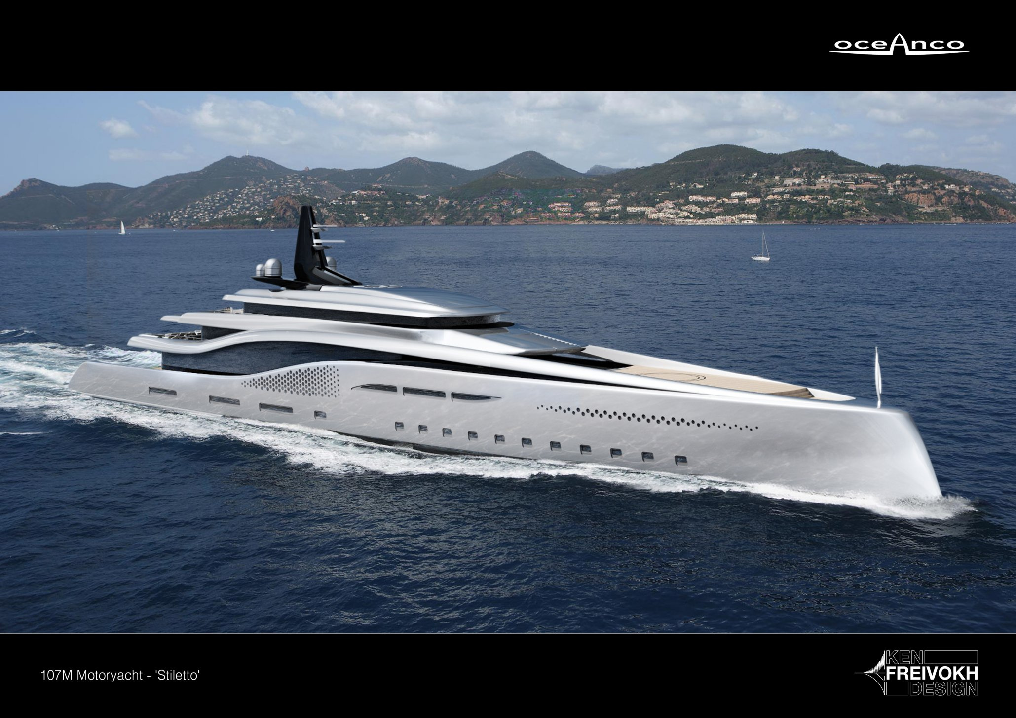 Luxusní jachta Oceanco Stiletto