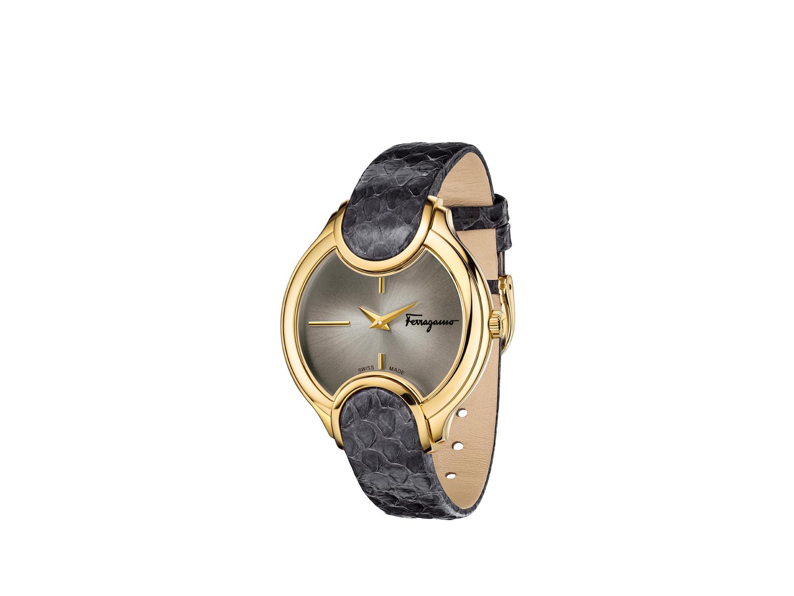 Luxusní zlaté hodinky Salvatore Ferragamo Signature Collection
