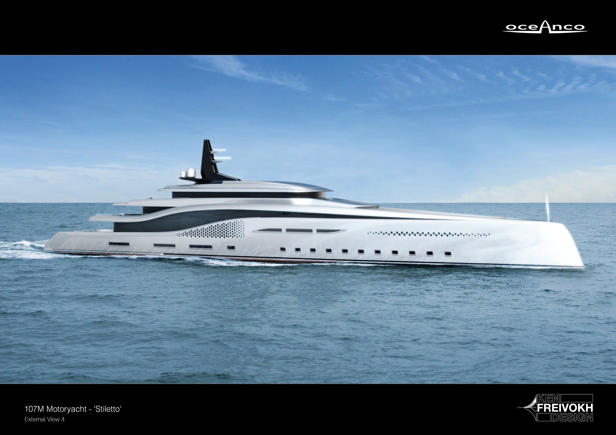 Oceanco Stiletto – nová 107m dlouhá super jachta