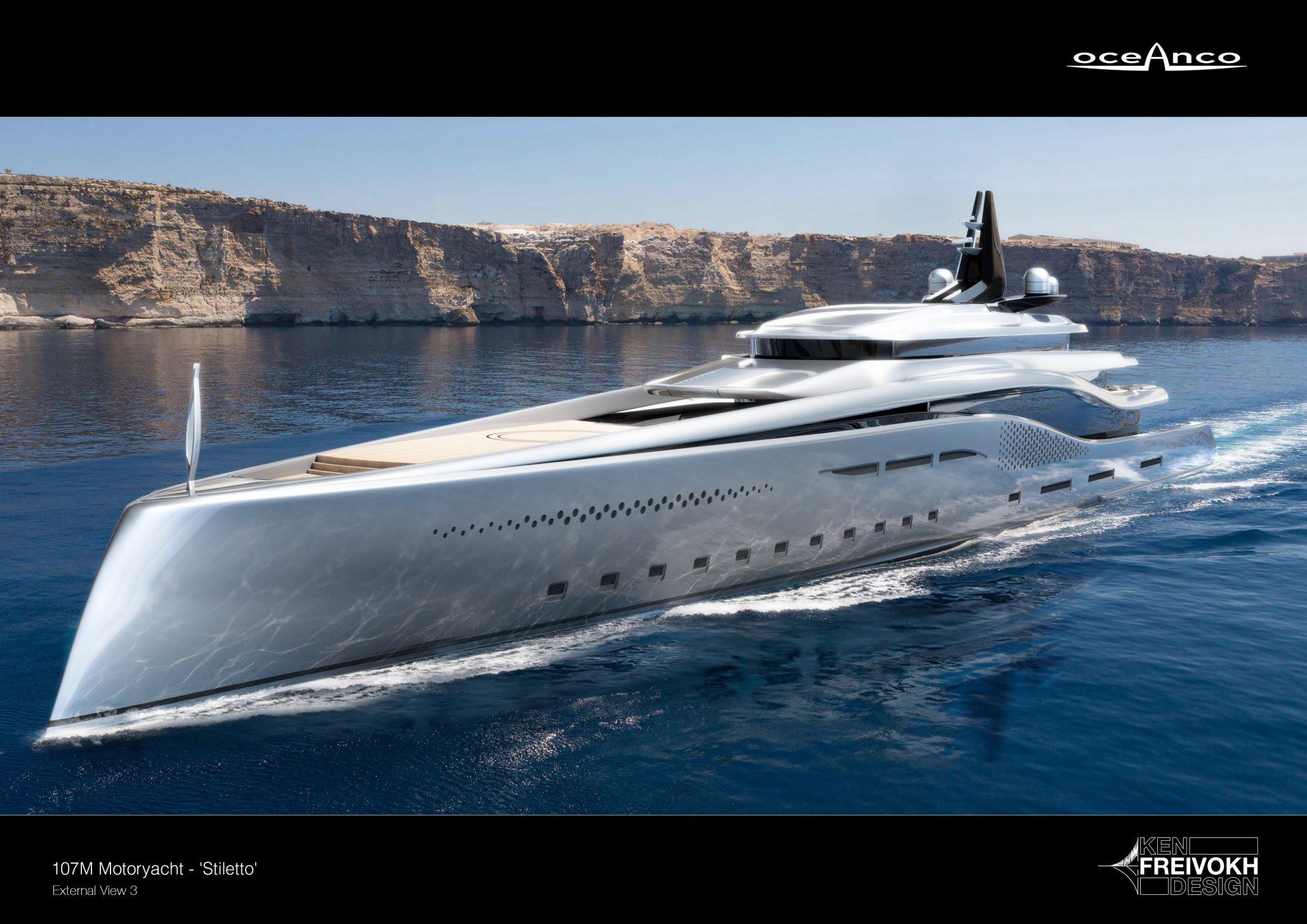 Oceanco Stiletto luxusní super jachta