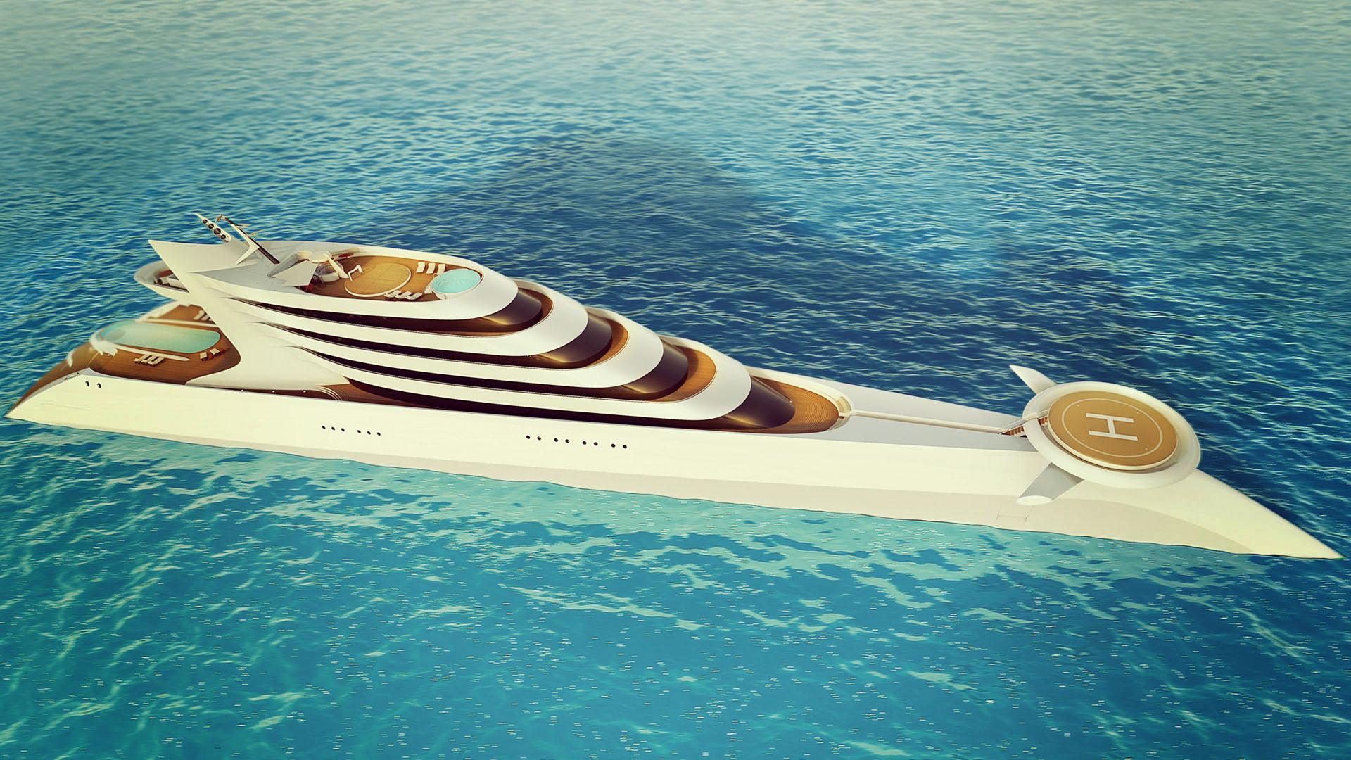 Třetí největší luxusní jachta L'amage na světě