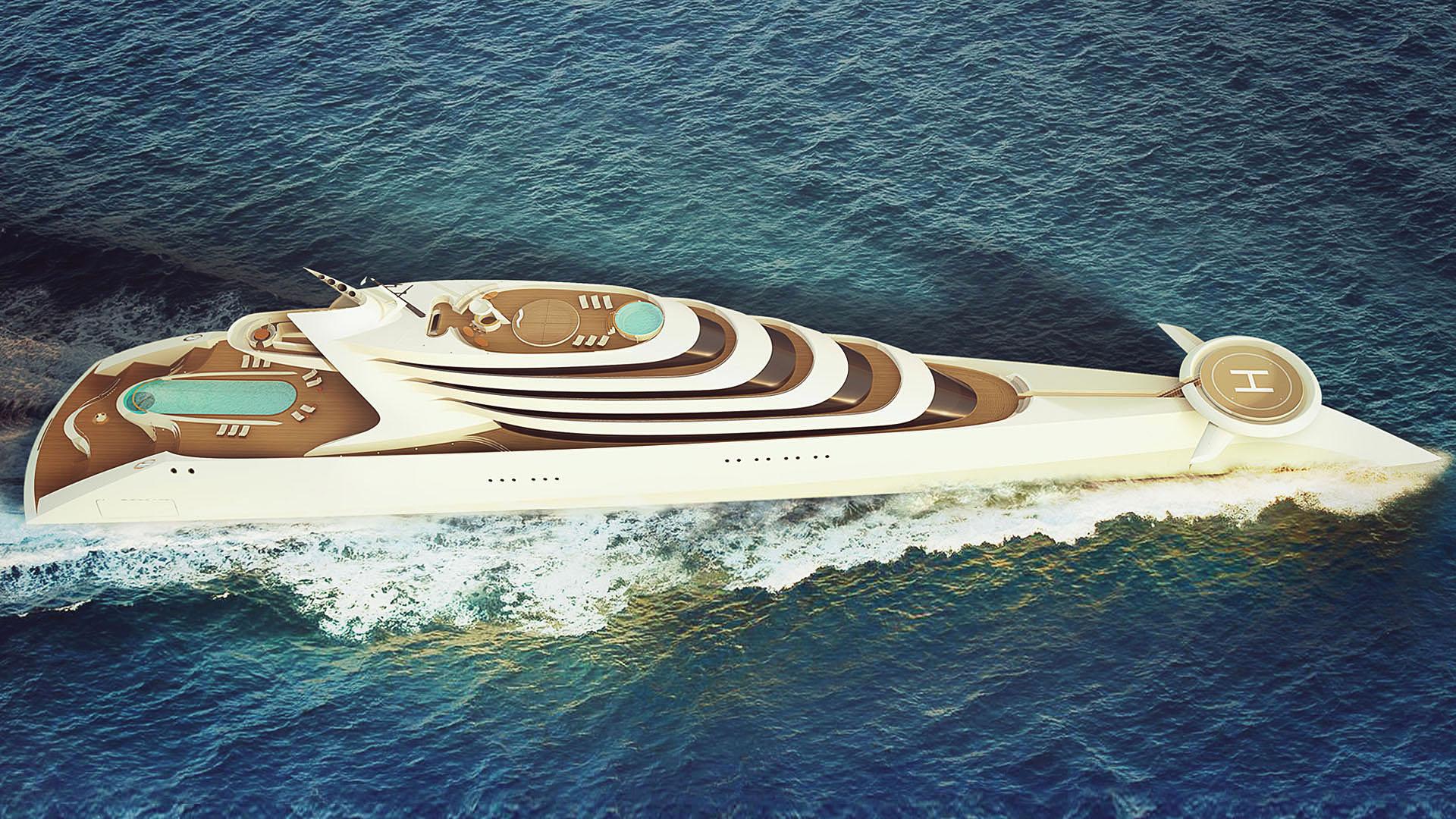 luxusní jachta L'amage