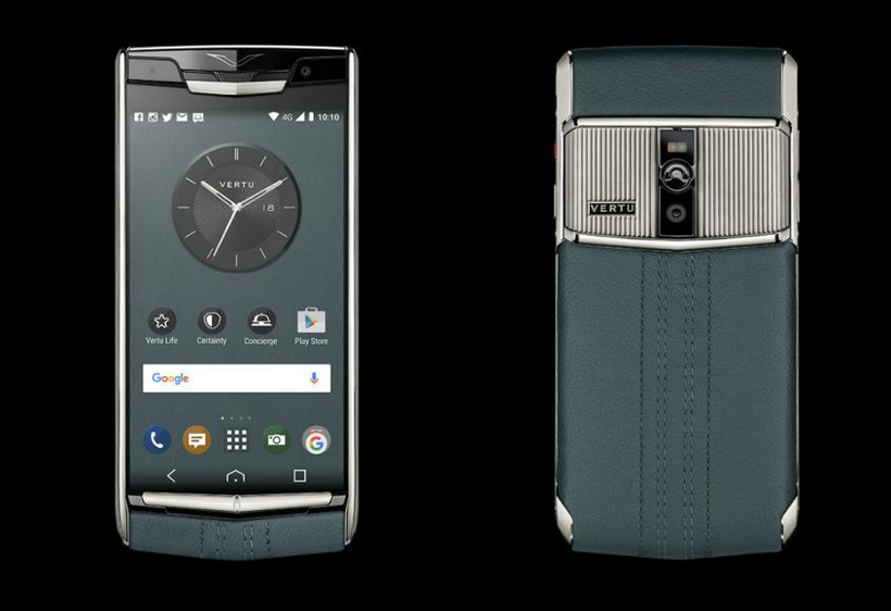 luxusni-teefon-vertu-signature-touch-teal-fluted-edition