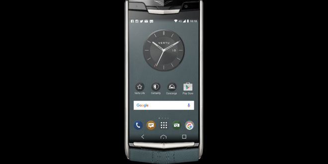 luxusni-telefon-vertu-signature-touch-teal-fluted-edition