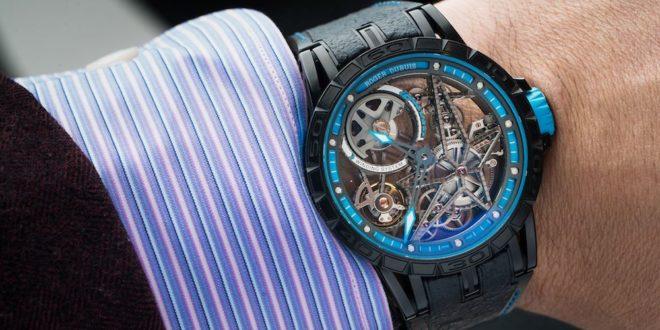 luxusni-hodinky-roger-dubuis-excalibur-spider-pirelli-automatic-skeleton